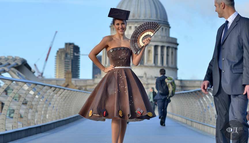 Плаття з шоколаду